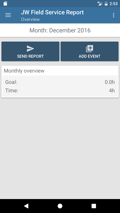 Jw Field Service Report - Android Apps On Google Play
