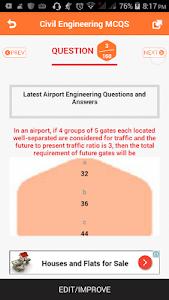 Civil Engineering MCQS screenshot 2