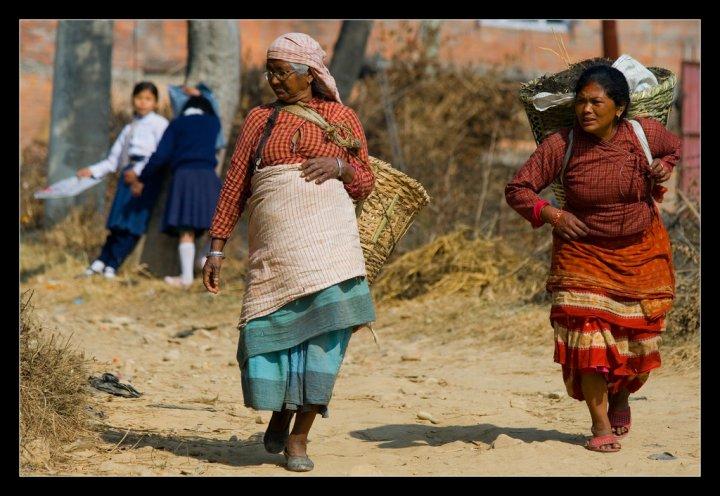 Contadine nepalesi di crileto