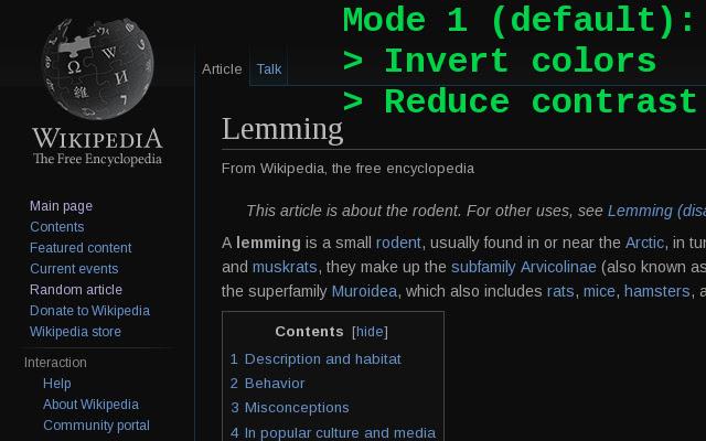 Dark mode / night reader