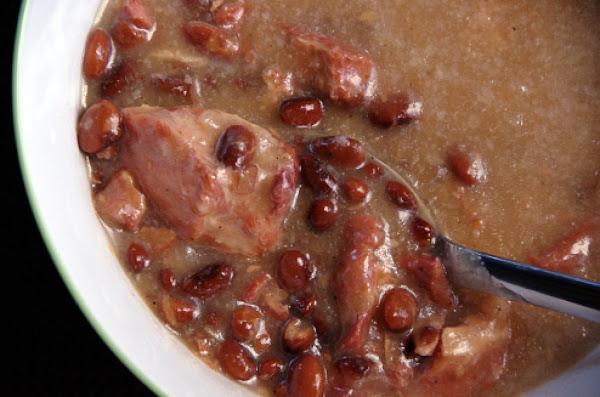 Mom's Ham & Beans Recipe
