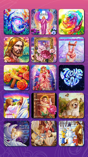 Bible Coloring - Paint by Number, Free Bible Games 2.5.3 screenshots 8