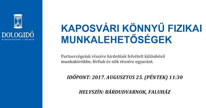 Munkalehetőségekről tájékoztató 2017.08.25
