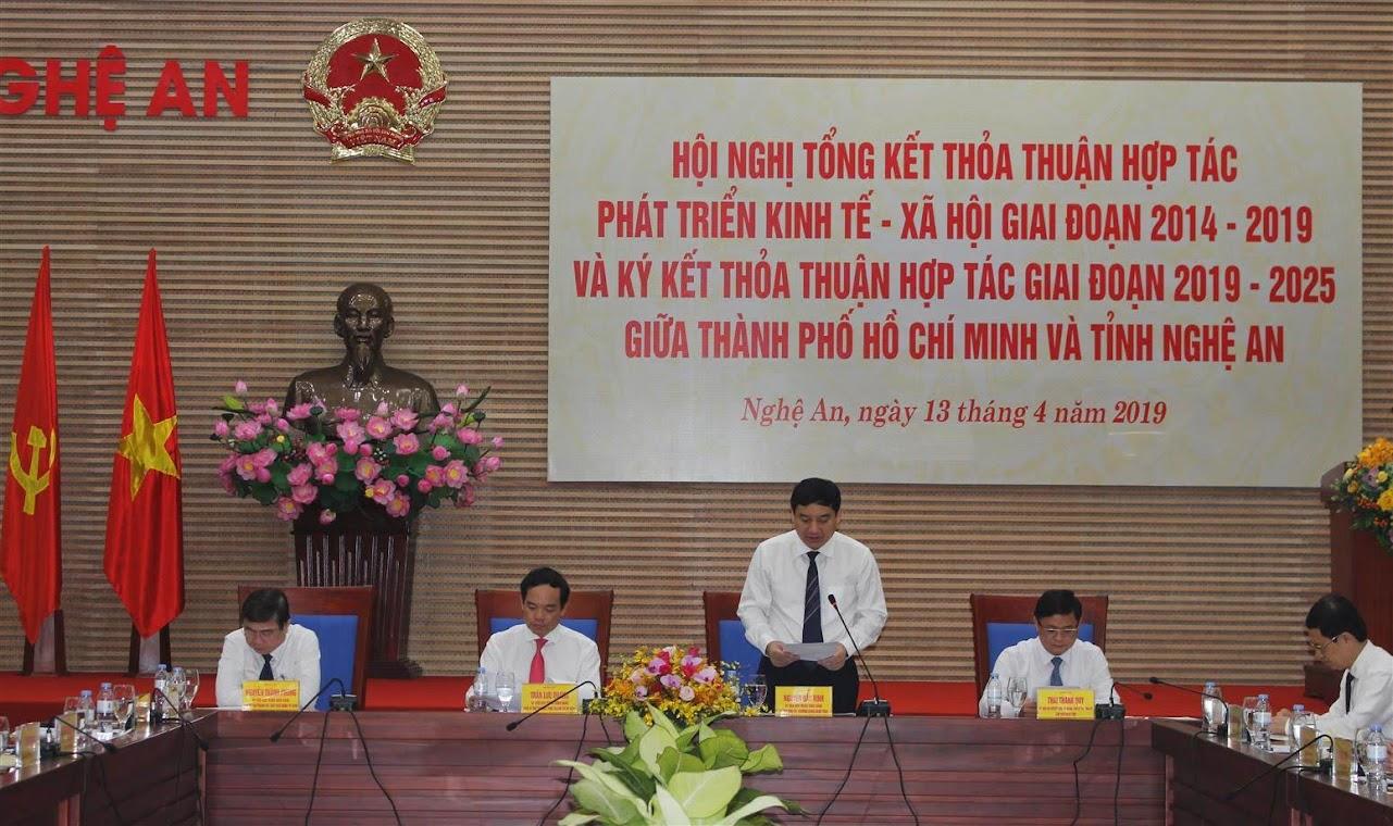 Đồng chí Nguyễn Đắc Vinh, Bí thư Tỉnh ủy giới thiệu về tiềm năng, đặc điểm Nghệ An.