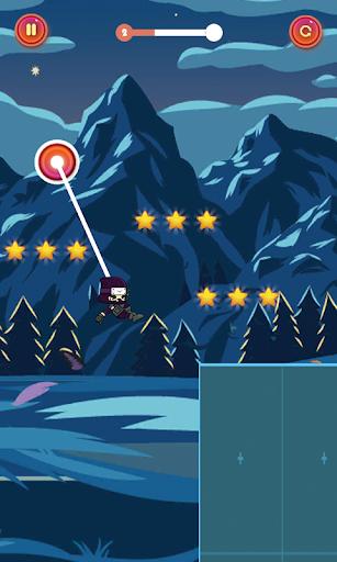 swing corde héros Ninja Jump  captures d'écran 2