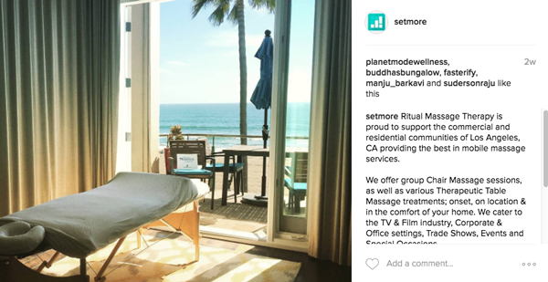 Beachside views at Ritual Massage Therapy in LA, from a Setmore user.