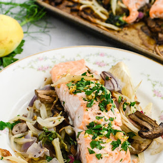 Roasted Salmon Fennel and Bok Choy