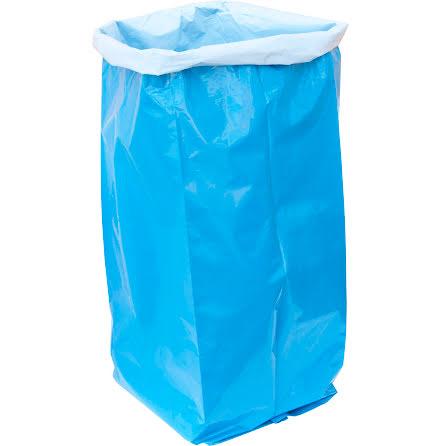 Sopsäck LLD 125L  blå/vit 50my