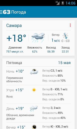 63 ру погода самара если