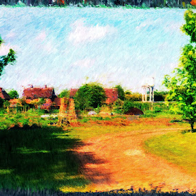 allotment by Paul Robin Andrews - Digital Art Things ( allotment, painting )