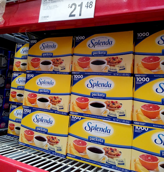Photo: We needed more Splenda in our pantry and prefer to buy it once a month at Sam's Club rather than buy a smaller box each week at the store. It helps us save money on one of the staples in our house!