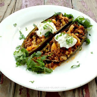 Low-Carb Stuffed Poblano Peppers.