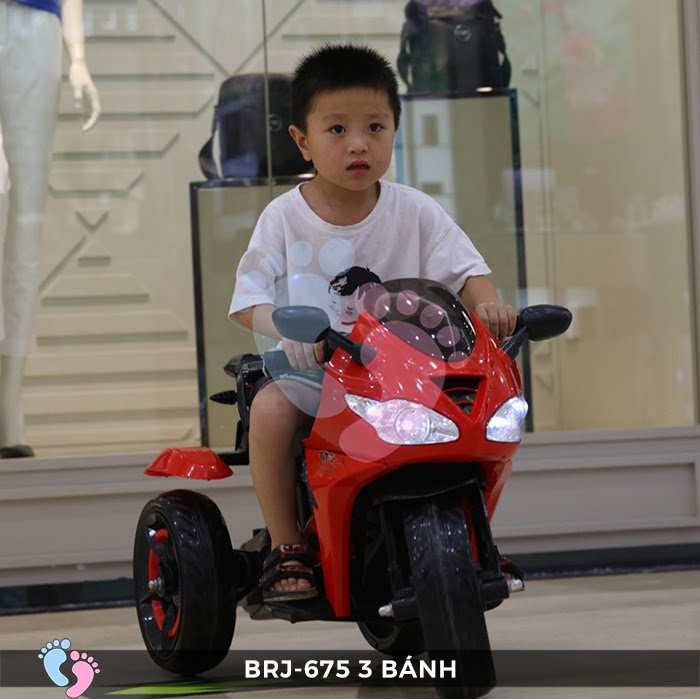 Xe moto điện trẻ em BRJ-675 3 bánh 10