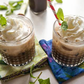 Coconut Mint Iced Mocha.
