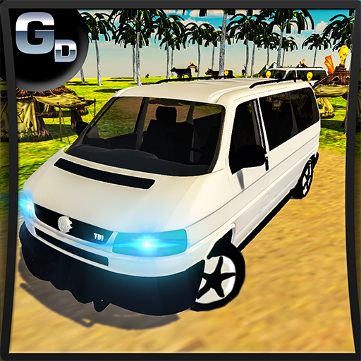 Camping Van Truck Driving Simulator to Beach Party