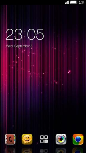 Pink Lights CLauncher Theme