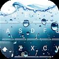 3D Blue Water Screen Droplets Keyboard Theme download