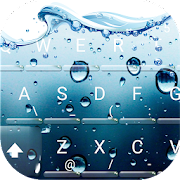 App 3D Blue Water Screen Droplets Keyboard Theme APK for Windows Phone