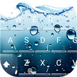 3D Blue Water Screen Droplets Keyboard Theme 6.8.17.2018