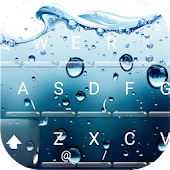 3D Water Screen Keyboard Theme
