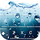 3D Blue Water Screen Droplets Keyboard Theme APK