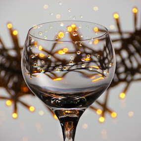 Cheers! by Marianna Armata - Artistic Objects Other Objects ( lights, happy, drink, christmas, bubbles, wreath, cheers, marianna armata, bokeh )