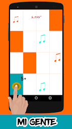 Mi Gente-J.Balvin Piano Tiles APK screenshot thumbnail 1