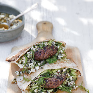 Lamb Burgers with Mint-Feta Pesto