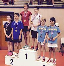 Photo: 67 Doubles 2015 Double Mixte Benjamins Médaille de Bronze: Maxence KNITTEL(avec Kelly BANCHONPANITH)