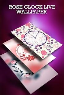 Rose Clock Live Wallpaper - náhled