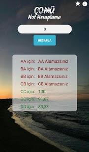 Çomü Not Hesaplama - náhled