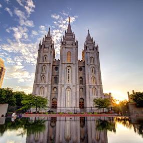 Mormon Temple by Paul Cushing - Buildings & Architecture Places of Worship ( temple, mormon, reflection, church, castle, lds )