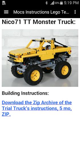 Lego Technic Instructions App