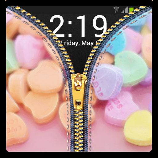 拉链锁屏 - 女孩 休閒 App LOGO-APP試玩