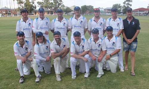 Back, Nick Smart, Shane Murphy, Chris Sargent, Tom Craig, Nathan Trindall, Brock Schwager, coach Gareth Lamond, front, Jake Brayshaw, Coby Cornish, Lachlan Cameron, Luke Meppem, Jordyn Mowle and Ryan O'Neill.