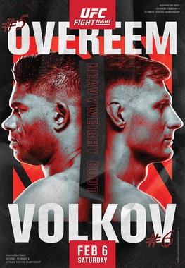 UFC Fight Night poster - Overeem vs Volkov