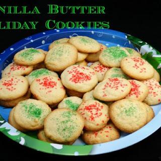 Vanilla Butter Cookies.