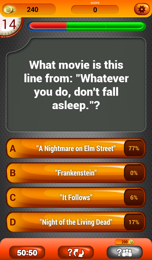 horror movies trivia quiz screenshot - Halloween Horror Movie Trivia