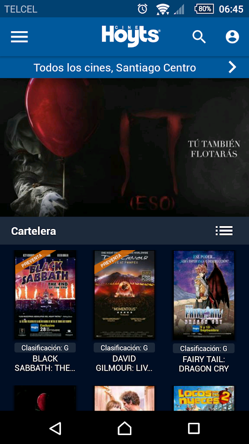 CineHoyts Chile- screenshot
