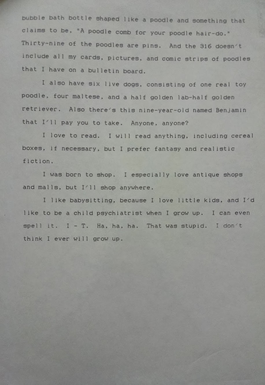 composition about Me, page 2