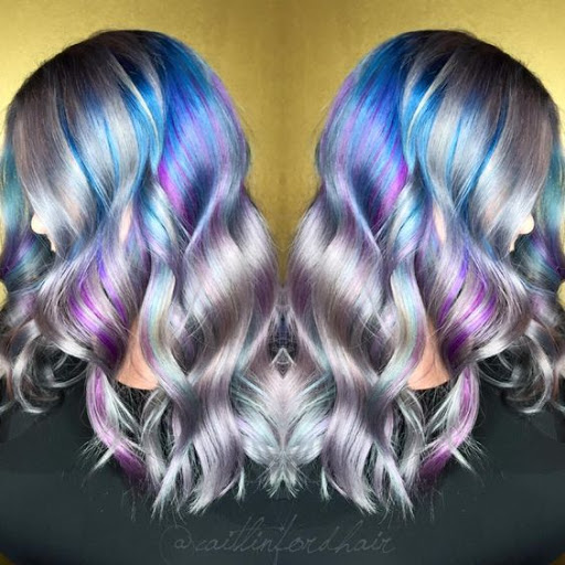 holographic hair hologram opal hair