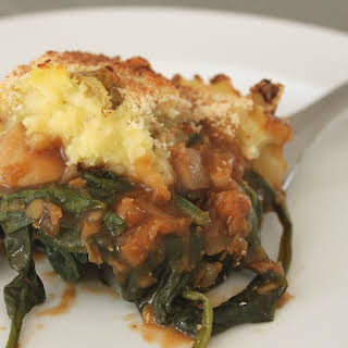 Guinness Shepherd's Pie With Lentils And Spinach.