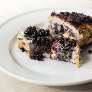 Wild Blueberry and Kale-Stuffed Chicken Breast.