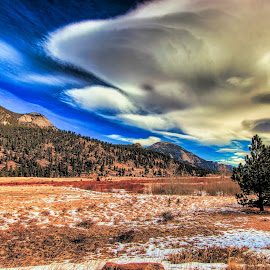 alien Sky  by Bruce Newman - Landscapes Mountains & Hills ( dramatic sky, early morning light, nature', landscape, colorful,  )