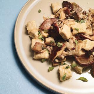 Ricotta Gnocchi with Mushrooms and Marjoram