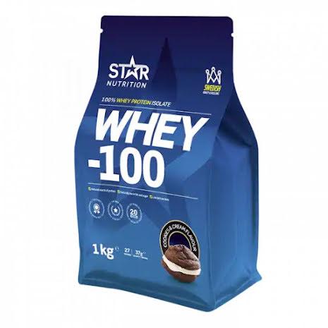 Star Nutrition Whey-100 1kg - Cookies & Cream