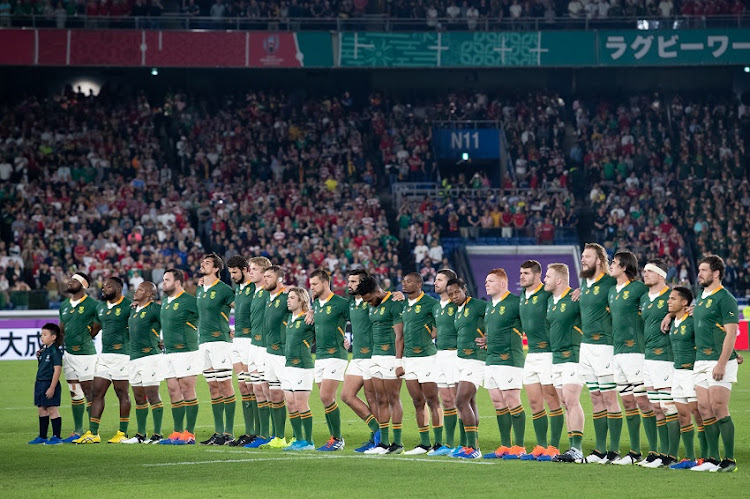 Rugby World Cup 2019 final match between South Africa and England at International Stadium Yokohama in Yokohama, Japan.