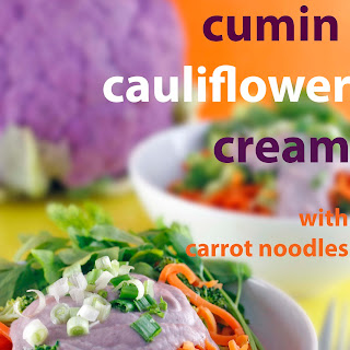 Cumin Cauliflower Cream Sauce with Carrot Noodles (Vegan)