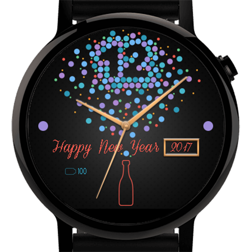 New Year Countdown Watch Face