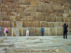 Photo: De piramide van Cheops voor de proporties